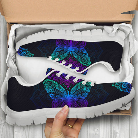 Image of Butterfly Mandala Handcrafted Sneakers