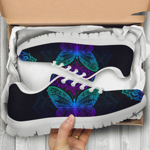 Butterfly Mandala Handcrafted Sneakers