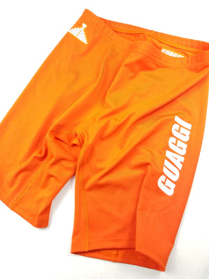 "Womens ""GO"" Biker Short - Orange"