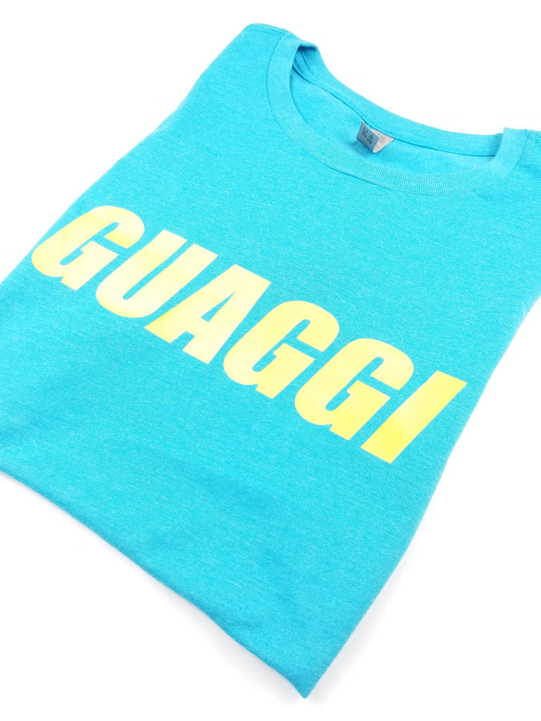 Womens Motion T - Teal/Yellow