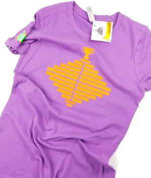 Womens From the Bottom T - Purple/Orange