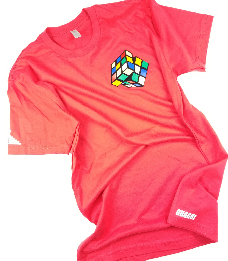"Mens ""Figure It Out"" Rubiks T - Red"