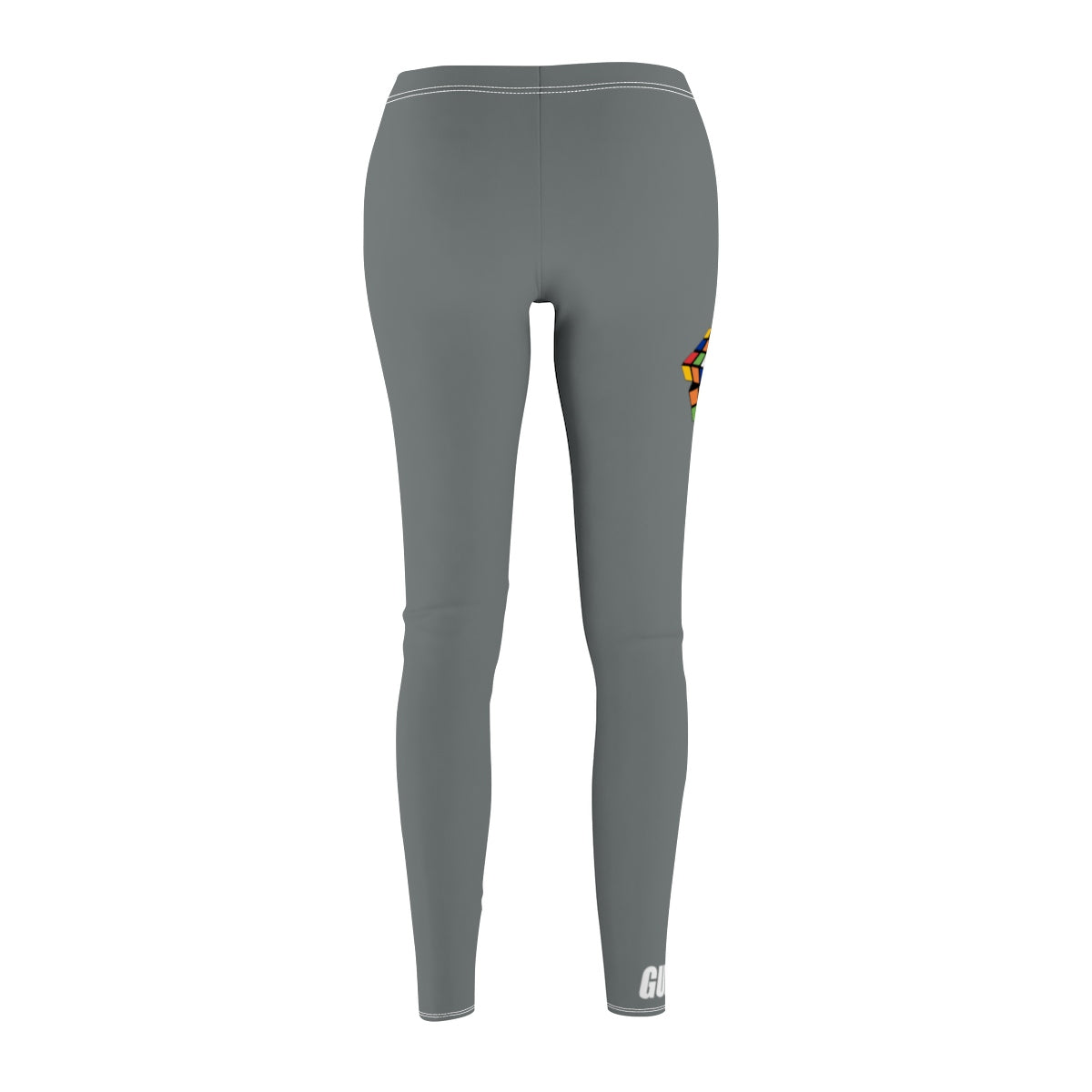 "Rubiks ""Figure It Out"" Sport Leggings - Dark Grey"