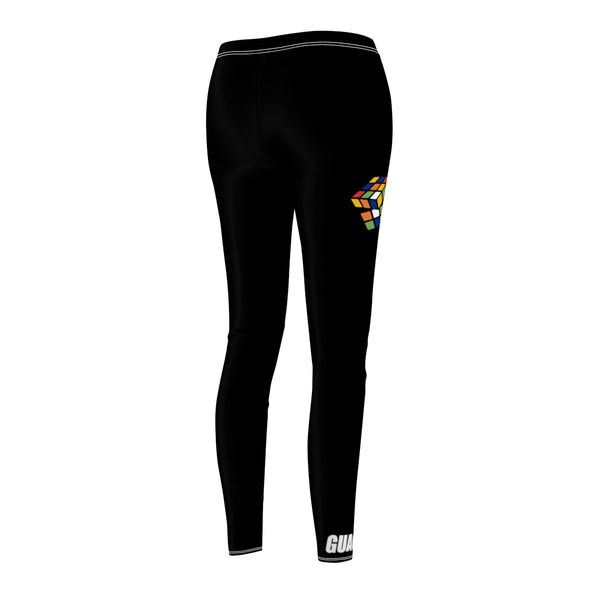 "Rubiks ""Figure It Out"" Sport Leggings - Black"