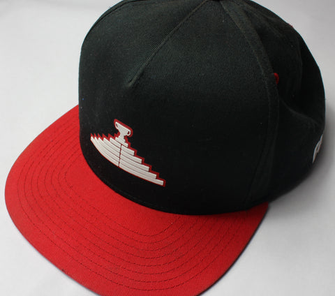 Logo Snapback Hat - Black/Red