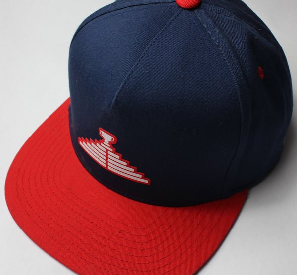 Logo Snapback Hat - Navy/Red