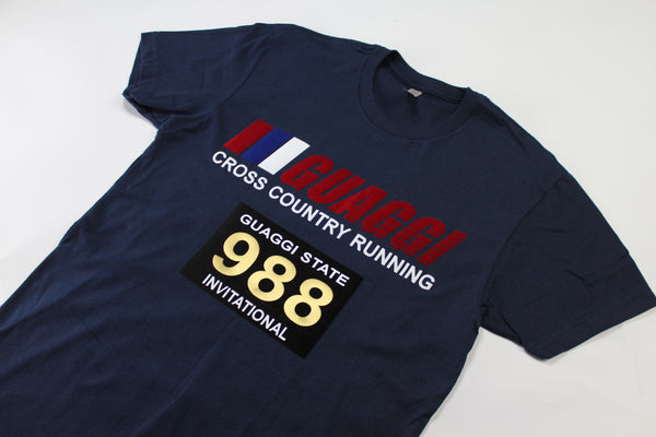 Cross Country T - Navy Blue