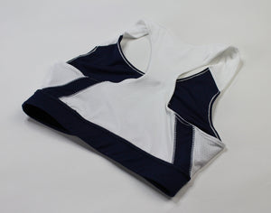 Womens' Logo Sport Crop - Navy Blue/White