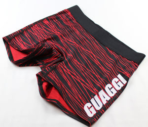 Womens' Yoga Short - Black/Red Print
