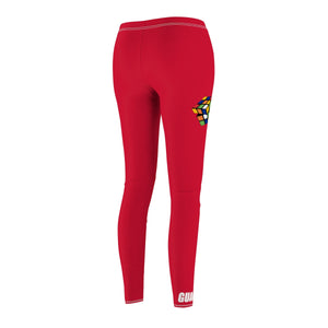 "Rubiks ""Figure It Out"" Sport Leggings - Red"