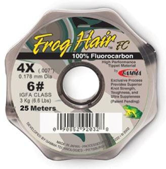 Frog Hair Fluorocarbon Tippet 1X 11.5# 25m Spool Fly Fishing