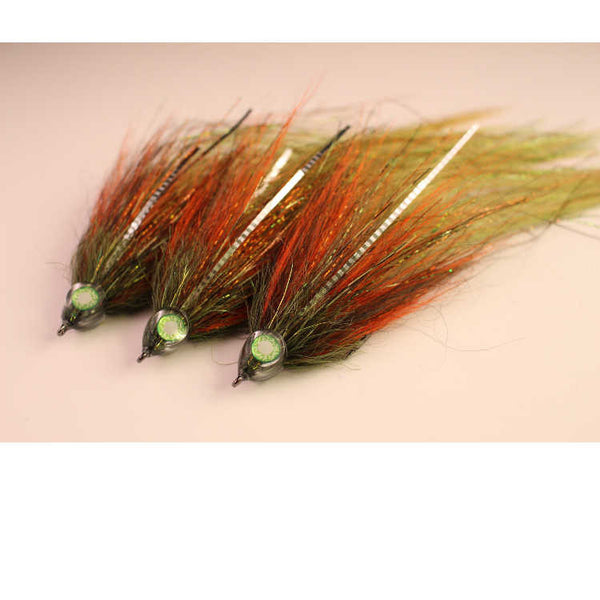 Hollow Fly Deceiver Pike Fly Olive And Orange Rapax
