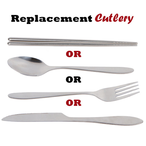 1 Piece Lightweight Stainless Steel Travel / Camping Cutlery Replacement Utensils