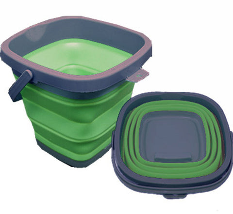 * New * Square Collapsible Bucket (10L) - Packs Easy!