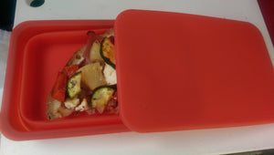 Oven & Microwave Safe Silicone Collapsible Container - Cook, Freeze, Heat, Store all in the Same Container!