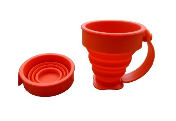 Cups - Silicone Collapsible Cup With Handle
