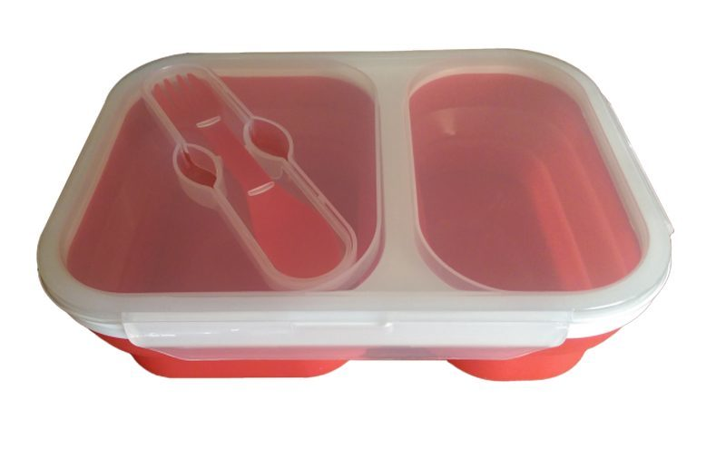 Storage Container - *New* 2 Compartment Collapsible Lunch Box / Entertaining Dish