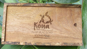 gift box, mango wood, wood, kona soap, turtle, made in hawaii