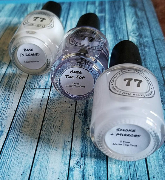 Base Coat, Glossy Top Coat, Matte Top Coat Trio