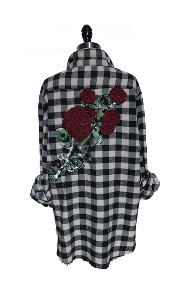 Ruby Roses Flannel