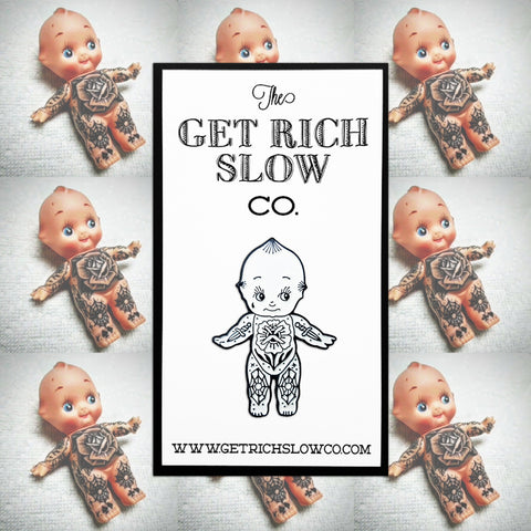 "TATTOOED KEWPIE 1.5"" PIN"