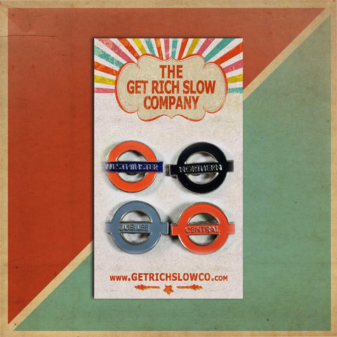 SET OF 4 LONDON TUBES DEADSTOCK PIN SET