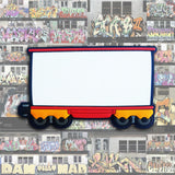 "GRAFFITI BOXCAR 5"" x 3"" MINI CANVAS MAGNET"