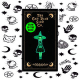 "WITCH WEDNESDAY 1.5"" GLOW-IN-THE-DARK PIN"