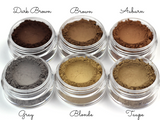 """Dark Brown"" - Mineral Eyebrow Powder - Etherealle"
