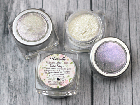 """Dew Drops"" - Pixie Gems Holographic Shimmer Dust - Etherealle"