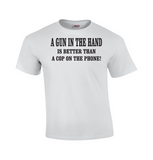 A Gun In The Hand | Pro Gun T-shirt-Dad Shirts-Mens T-shirts