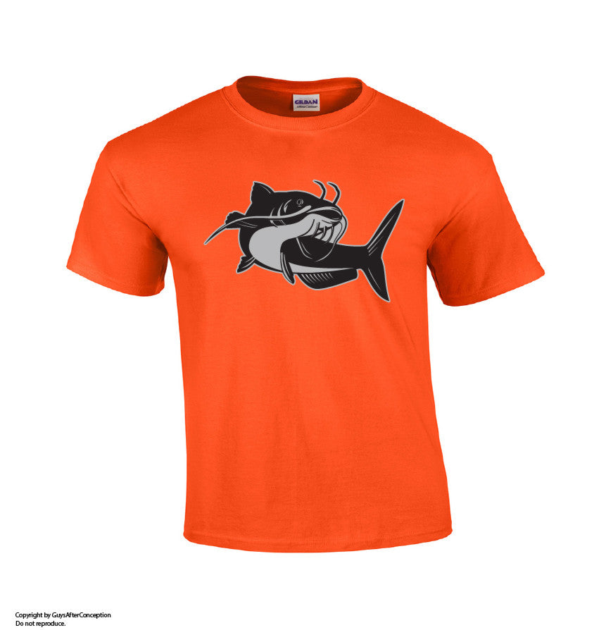 Catfish Fishing T-shirt-Dad Shirts-Mens T-shirts