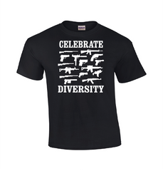 Celebrate Diversity | Gun T-shirt-Dad Shirts-Mens T-shirts