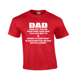 Dad Finds Out | Funny Dad Shirt-Dad Shirts-Mens T-shirts