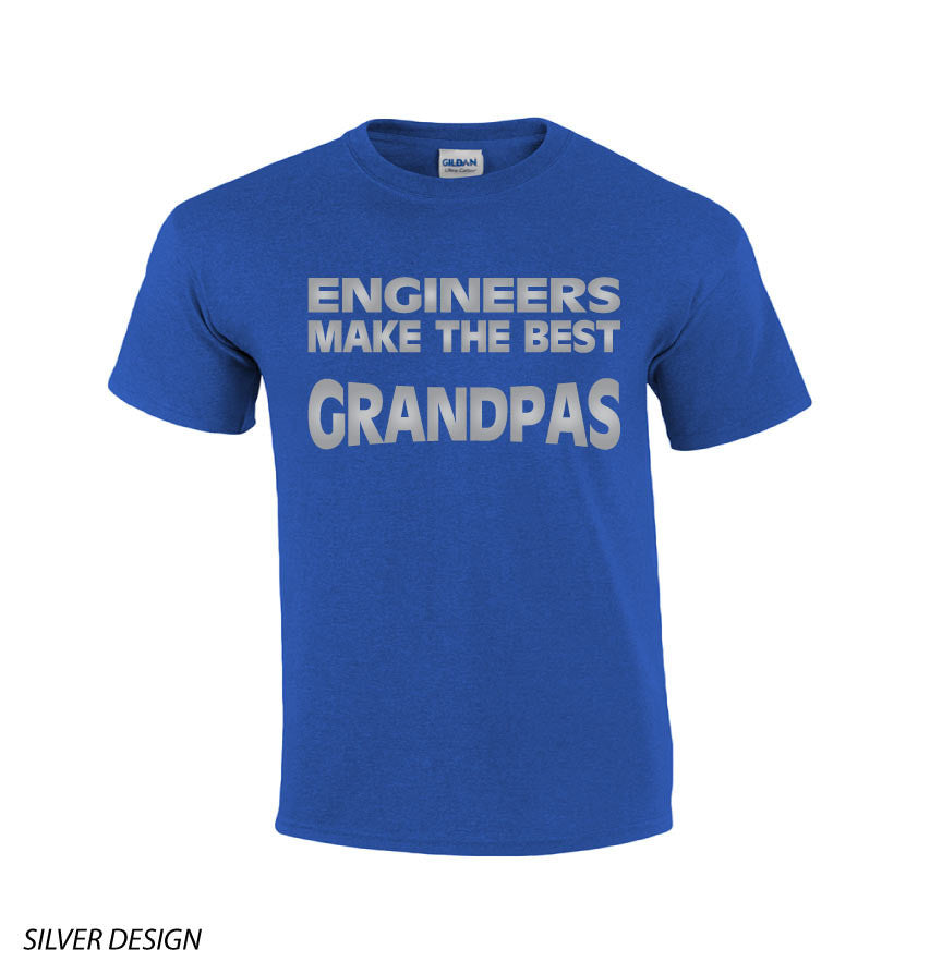 Engineers Makes The Best Grandpas T-shirt-Dad Shirts-Mens T-shirts