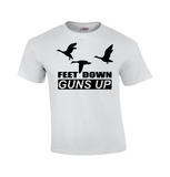 Feet Down Guns Up | Duck Hunting T-shirt-Dad Shirts-Mens T-shirts