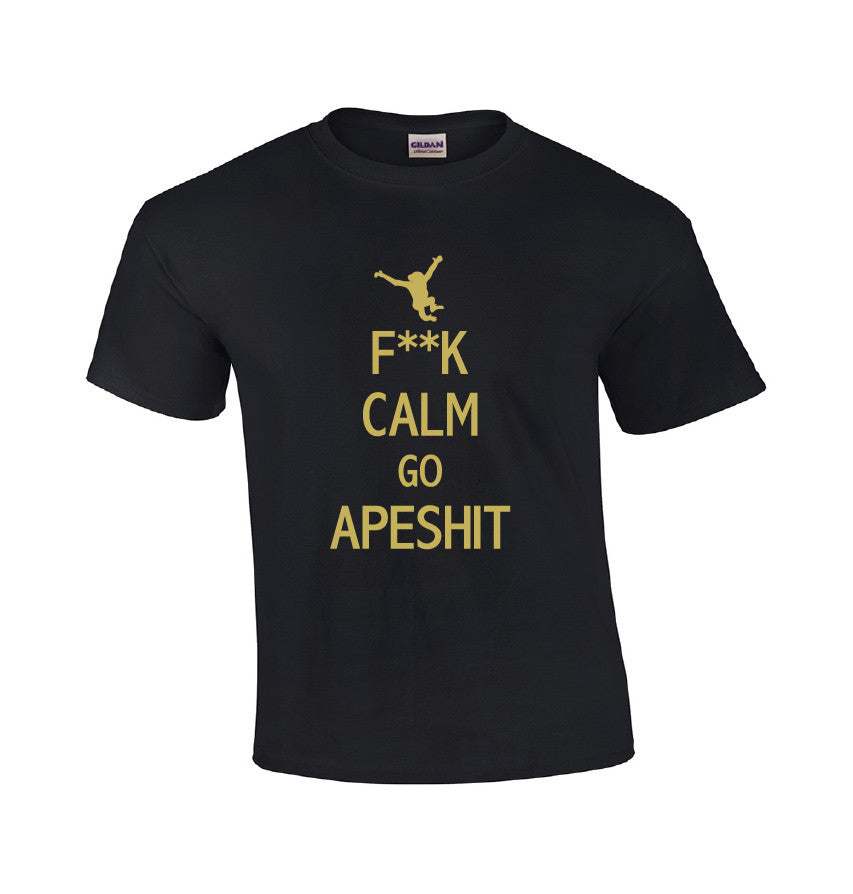 F**K Calm Go Apeshit-Dad Shirts-Mens T-shirts