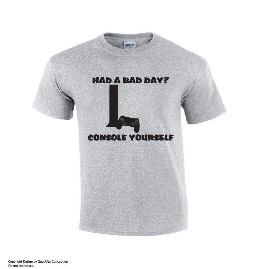 Console Yourself Gaming T-shirt-Dad Shirts-Mens T-shirts