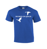 Hooked On Quack | Duck Hunting T-shirt-Dad Shirts-Mens T-shirts