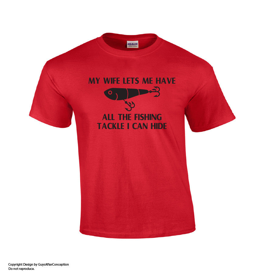All The Fishing Tackle I Can Hide T-shirt-Dad Shirts-Mens T-shirts