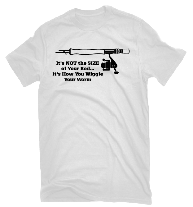Size Of Your Rod Funny Fishing T Shirt Guys After Conception