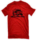 Funny EMT Shirt This Is How I Roll-Dad Shirts-Mens T-shirts