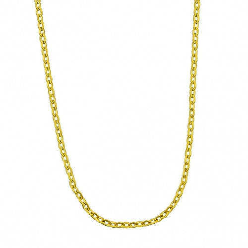 Stainless Steel Basic Necklace, Polished Finish, Gold Tone