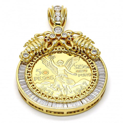 Gold Layered  Religious Pendant, Scorpion and Angel
