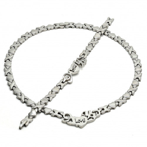 Stainless Steel  Set Necklace and Bracelet