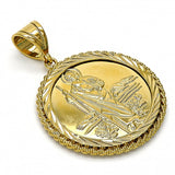 Gold Layered  Religious Pendant