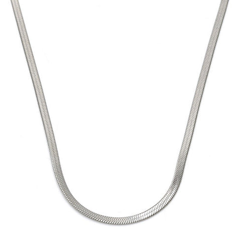 Stainless Steel  Basic Necklace, Polished Finish, Steel Tone