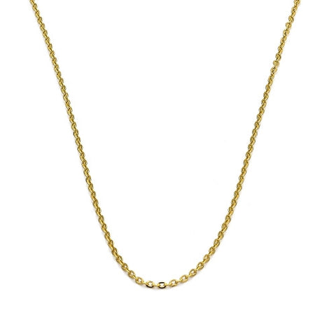 Stainless Steel Basic Necklace, Rolo Design, Polished Finish, Gold Tone