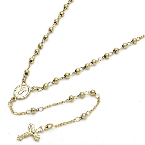 Gold Layered  Thin Rosary, Divino Niño and Crucifix
