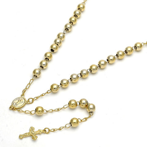 Gold Layered  Medium Rosary, Divino Niño and Crucifix